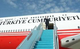 Эрдоган прибыл в карабахский аэропорт Физули, который они откроют вместе с Алиевым