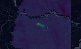 На снимке из космоса заметили выброс метана на газопроводе в Нижегородской области